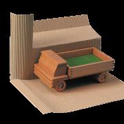 ONDUWELL 2,5 mm Carton ondulé en rouleau