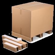 Pied de palette adhésif en carton