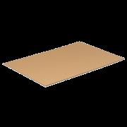 Couche intermédiaire en carton ondulé
