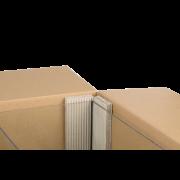 Plaque fendue en carton ondulé