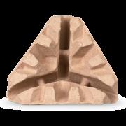 Protège-angle en cellulose moulée