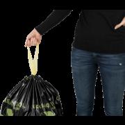 Sac poubelle avec liens coulissants