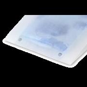Sachet à soufflets en papier cristal avec fermeture adhésive