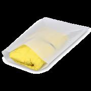 Sachet plat en papier cristal avec fermeture adhésive