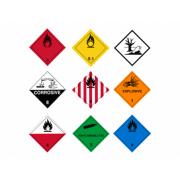 Etiquette pour matières dangereuses