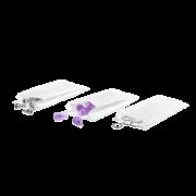 Sachet en papier à soufflets blanc