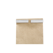 Sachet à fond plat en papier kraft à fenêtre