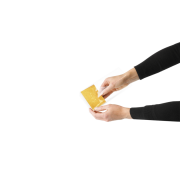Garniture en carton or/blanc pour sachets à fond plat