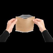 MECASEAL Sachet aromatique à fond plat, papier kraft