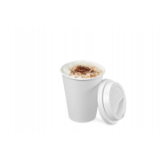 Gobelet pour boissons chaudes, couche PE blanc