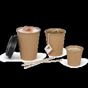 Gobelet pour boissons chaudes, couche PE brun