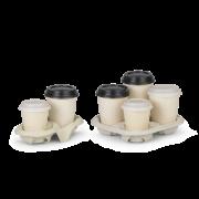 Gobelet pour boissons chaudes en bagasse Revêtement en PLA SWEET