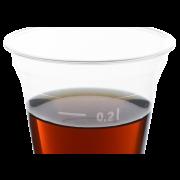 Clear Cup en PET avec repère de niveau