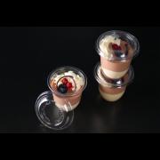 Gobelet traiteur en rPET ELEGANCE & couvercle