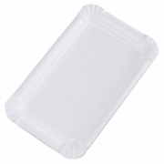 Assiette en carton rectangulaire, non couchée