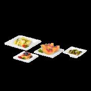 Assiette carrée en bagasse
