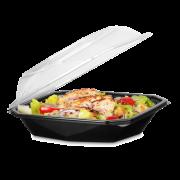Salatschale aus PET Octaview mit Deckel