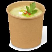 Gobelet en carton/Gobelet à soupe brun PREMIUM