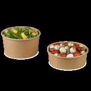 Bol à salade en carton marron rond