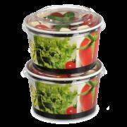 Couvercle en PET pour bol en salad carton