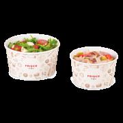 Bol à salade le carton «FRISCH & fein» avec revêtement PE
