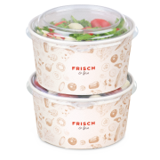 Couvercle PET pour bol à salad «FRISCH & fein»