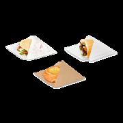 Pochette à snack ouverte des 2 côtés