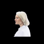 Charlotte à usage unique blanche
