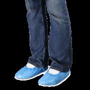Couvre-chaussure bleu à usage unique
