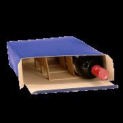 Emballage-cadeau pliable pour vin ELEGANCE
