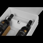 Carton cadeau pour bouteilles à motif EXKLUSIV