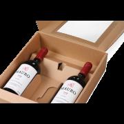 Carton cadeau pour bouteilles avec fenêtre