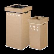 Collecteur de déchets en carton ondulé