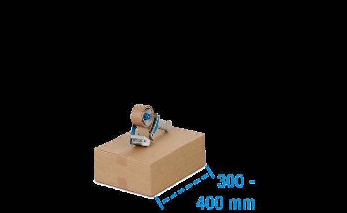 Boîte pliable simple & double cannelure brune, 300 à 400 mm de longueur