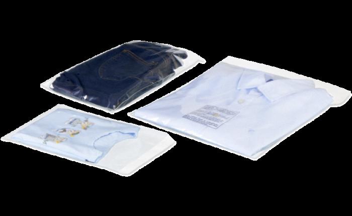 Pochette textile / de retour transparente
