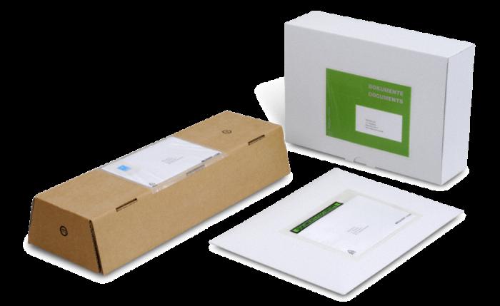 MECOUVERT® Pochette adhésive porte-documents C6