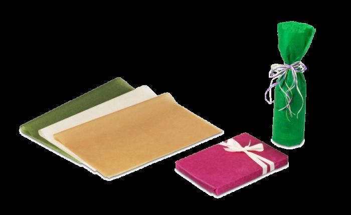 papier enrouleur coloré pour présent & bouteille
