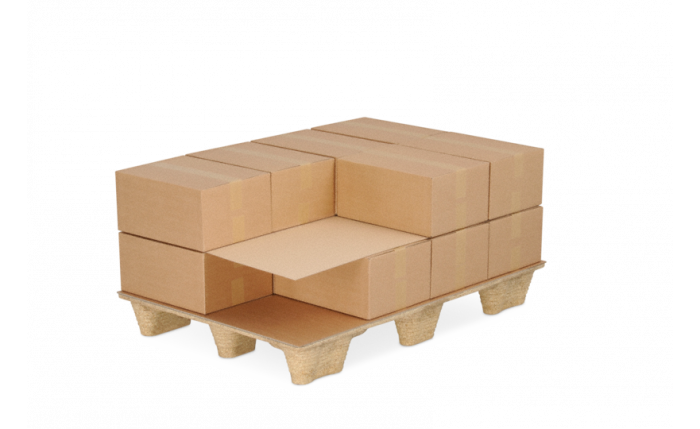 Plaque intercalaire pour palettes en carton ondulé