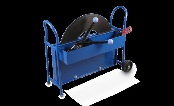 Chariot de déroulage mobile pour feuillard de cerclage en acier
