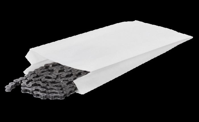Sachet plat en papier pergamine, blanc