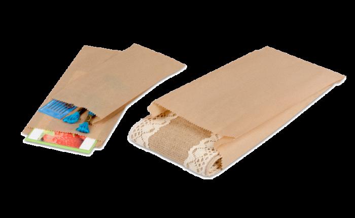 Sachet à soufflets en papier brun