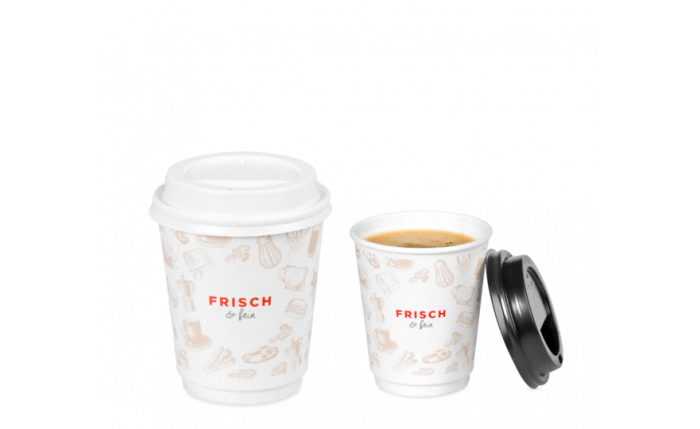 """Gobelet pour boissons chaudes """"FRISCH & fein"""" double paroi"""