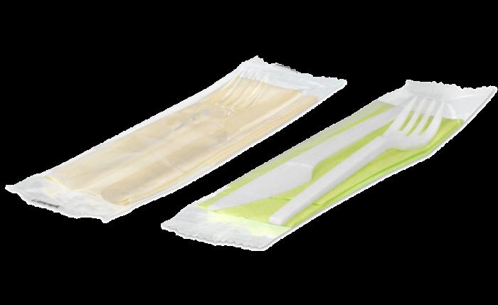 Set à couverts avec serviette
