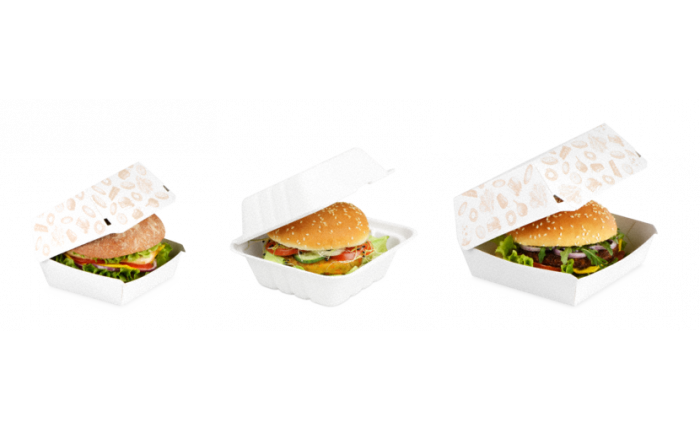 Boîte burger en carton ou bagasse