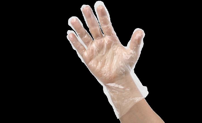 Gant à usage unique en HDPE transparent