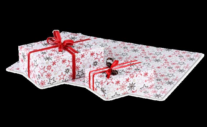 Papier cadeau pour Noël en feuilles