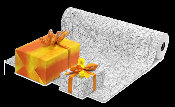 Papier cadeau en grands rouleaux, programme pour toute l'année