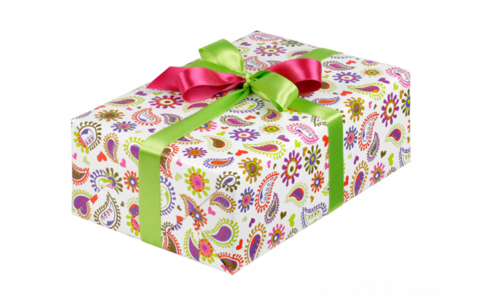 Petit rouleau midi de papier cadeau programme pur toute l'année