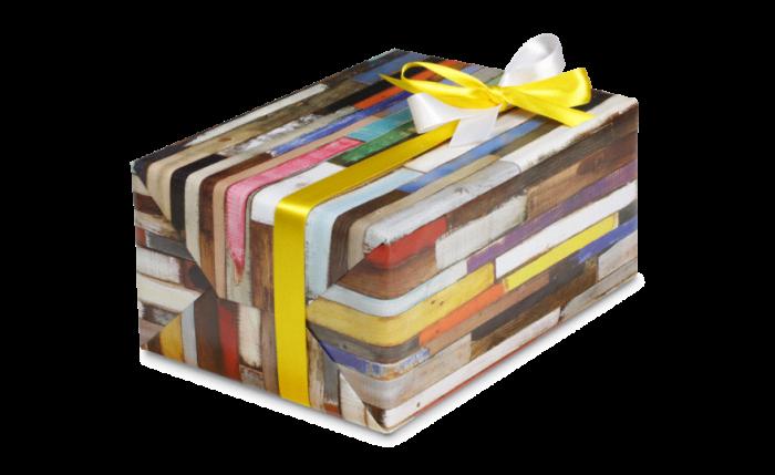 Papier cadeau en rouleaux à main, programme pour toute l'année