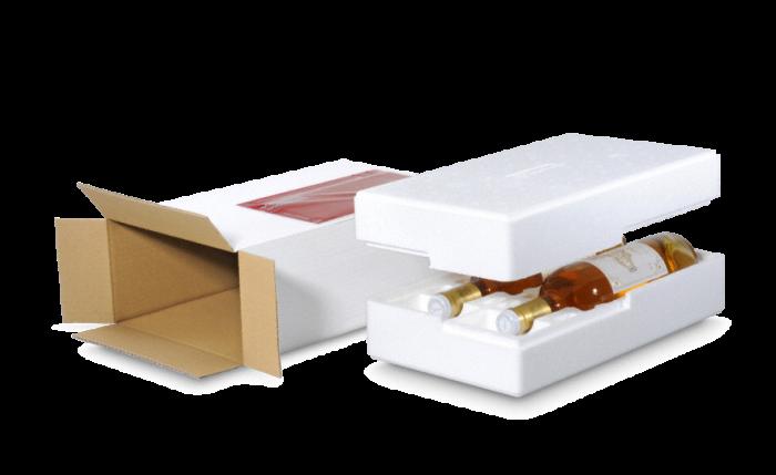 MECATHERM® Emballage d'expédition pour bouteilles en polystyrène (EPS)
